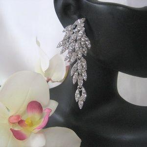 """Jewelry - New Crystal Rhinestone Chandelier Earrings 2.5"""" L"""